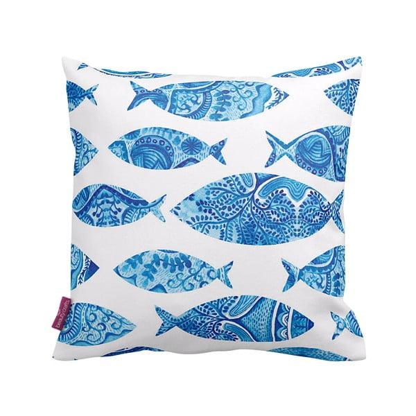 Polštář Blue Fish, 43x43 cm