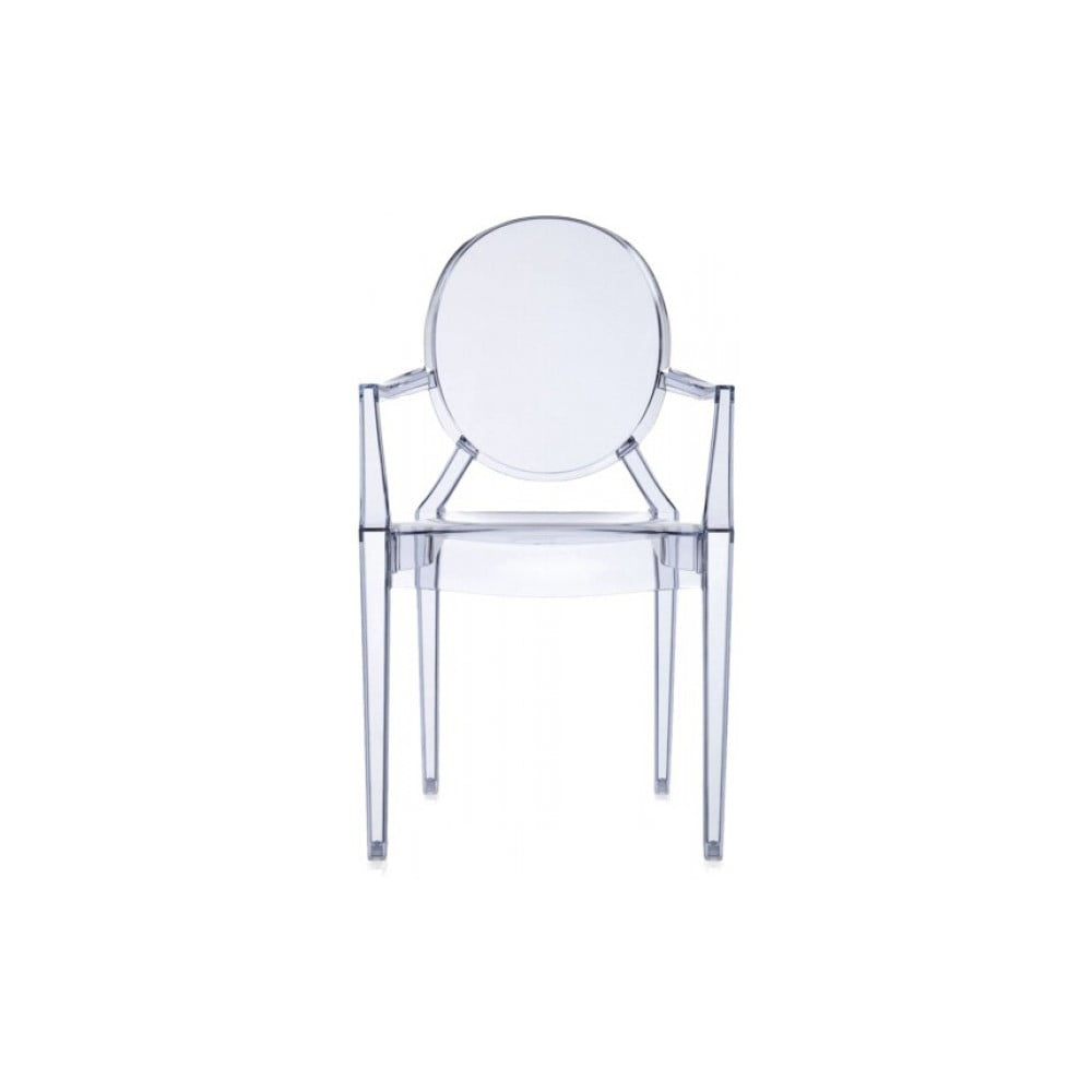 Světle modrá židle Kartell Louis Ghost