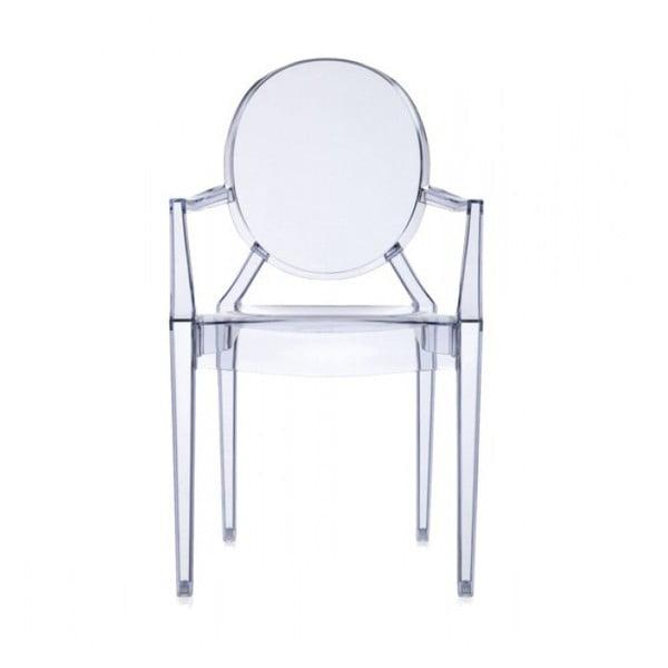 Plastová židle Kartell Louis Ghost, světle modrá