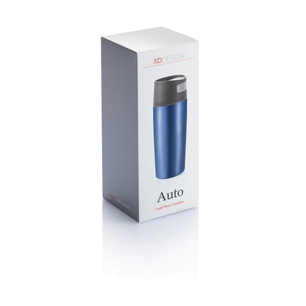 Cană termos pentru mașină XD Design Leak, albastru, 400 ml