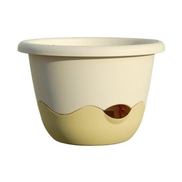 Mareta fehér felfüggeszthető önöntöző kaspó, hosszúság 30 cm - Plastia