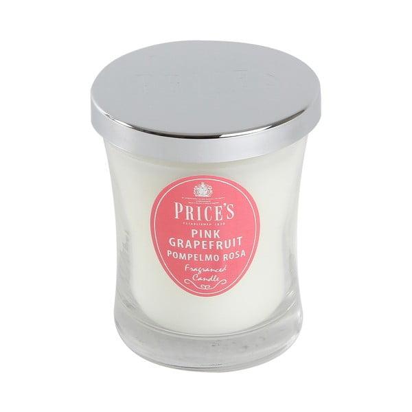 Vonná svíčka Prices Růžový grapefruit, 45 hodin hoření