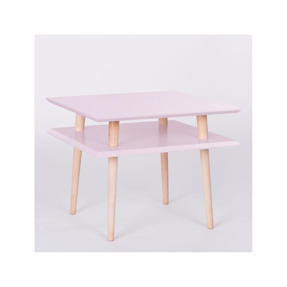 Růžový konferenční stolek Ragaba Square, 55 x 55 cm