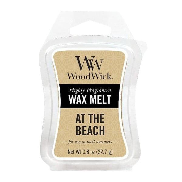 Wosk zapachowy do lampy zapachowej o zapachu cytryny, morskiej wody i kokosu WoodWick Na plaży, 20 h