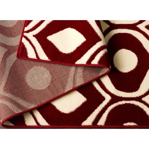 Červený koberec Dena, 160x225 cm