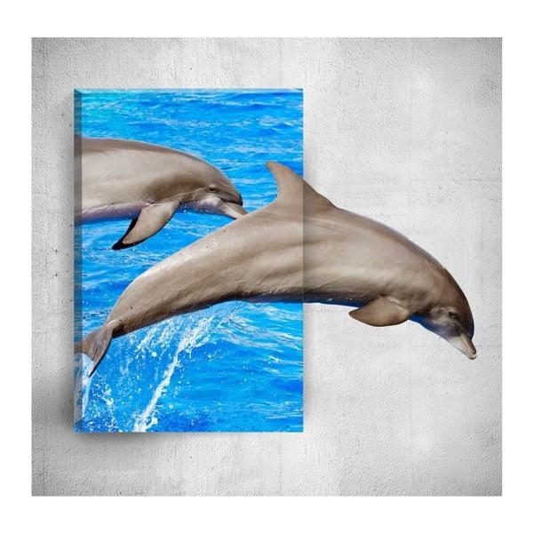 Nástěnný 3D obraz Mosticx Dolphins, 40 x 60 cm