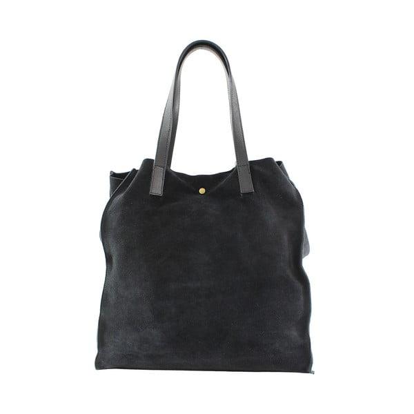 Kožená kabelka Perfume, černá