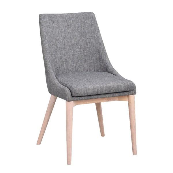 Scaun tapițat cu picioare gri deschis RowicoBea, gri