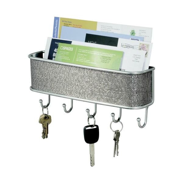 Nástěnný věšák na klíče s přihrádkou na dopisy InterDesign Twillo