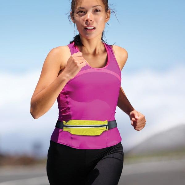 Sportovní neoprénové pouzdro CELLY RunBelt, univerzální velikost, žluté