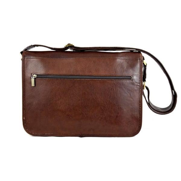 Kožená taška Santo Croce 8809 Dark Brown