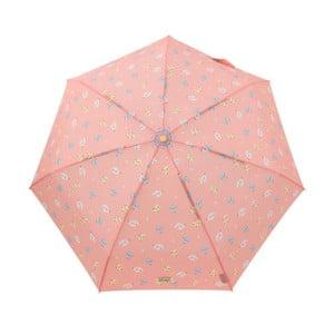 Korálově červený skládací deštník Mr. Wonderful Rayo