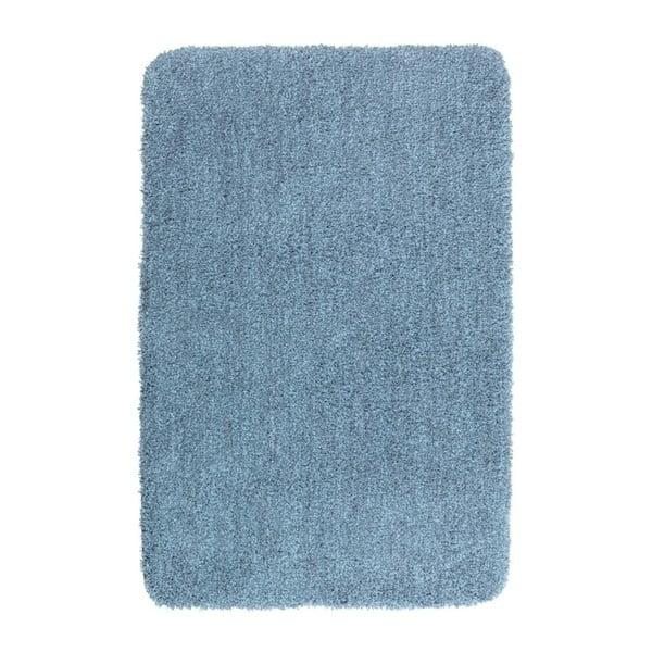 Niebieski dywanik łazienkowy Wenko Mélange, 90x60 cm