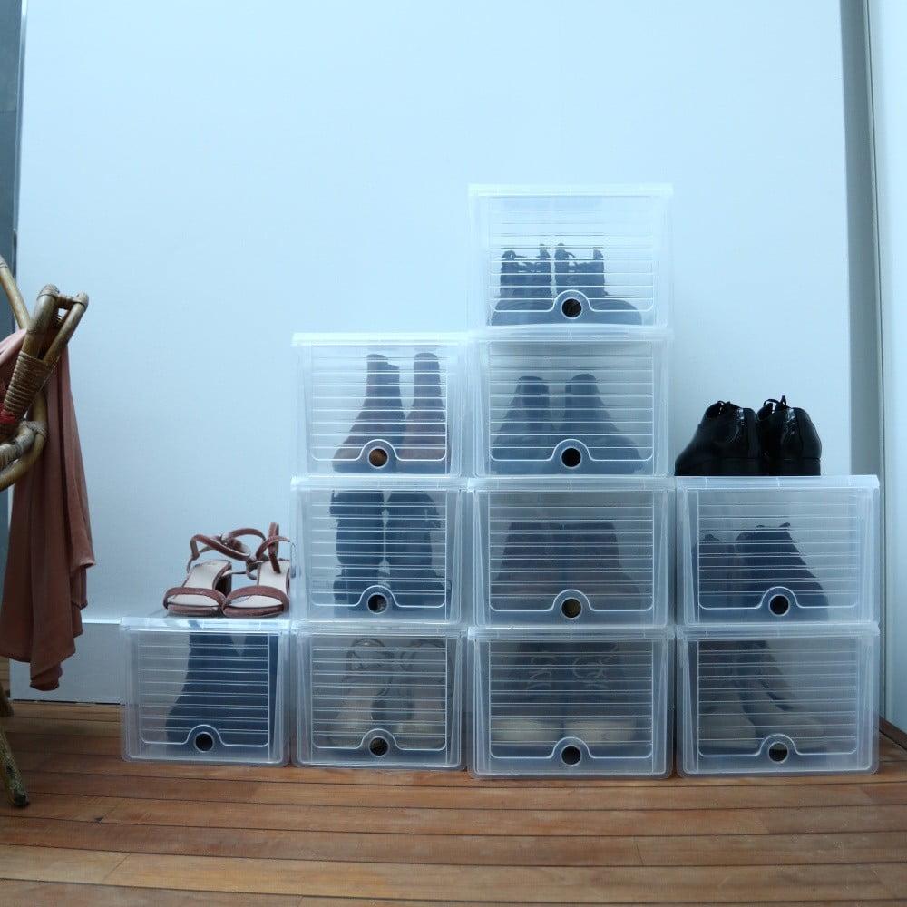 Transparentní úložný systém na boty Compactor