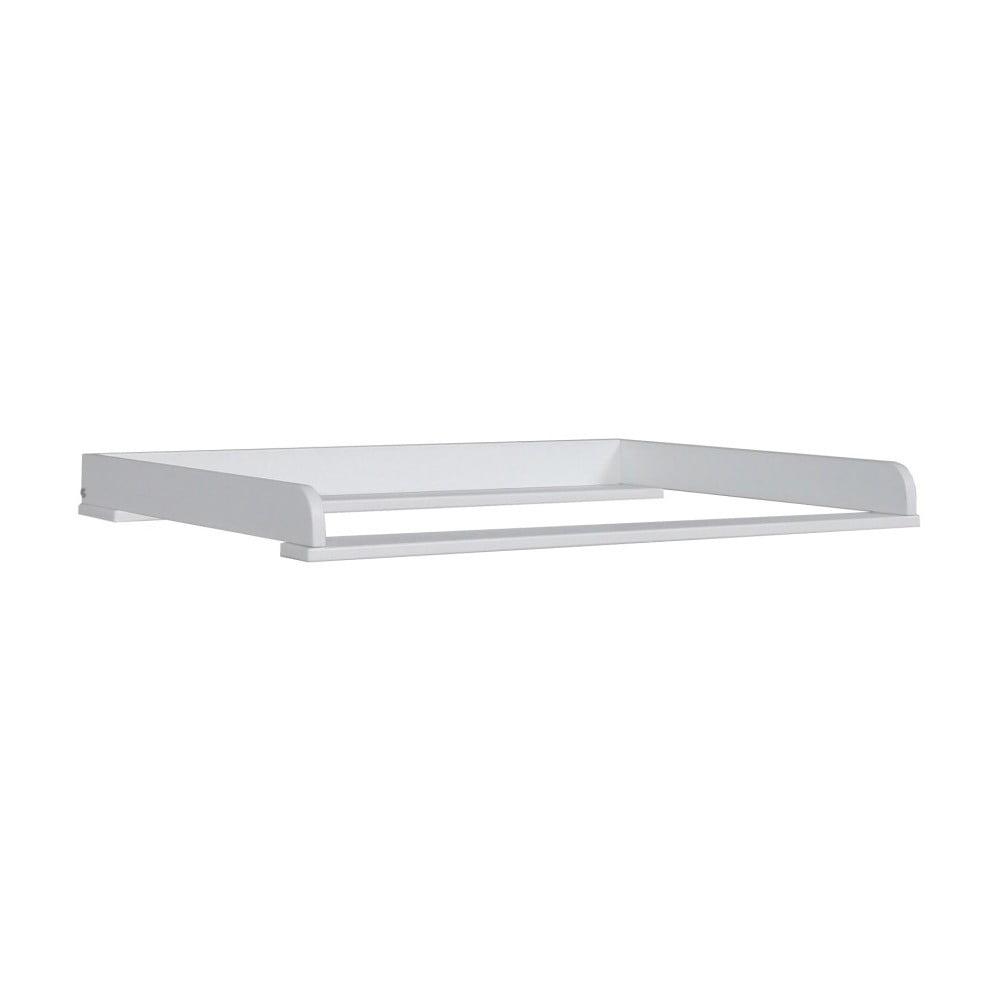Bílá snímatelný přebalovací pult z masivního borovicového dřeva Pinio Mini