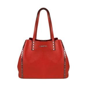 Červená kožená kabelka Lampoo Plango