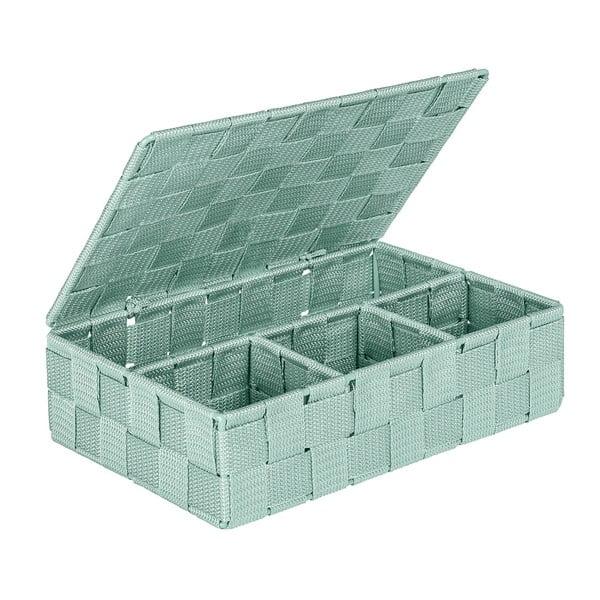 Adria zöld fürdőszobai rendszerező, fedéllel - Wenko