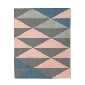 Vlněný koberec triangle 80x100 cm, petrolejový
