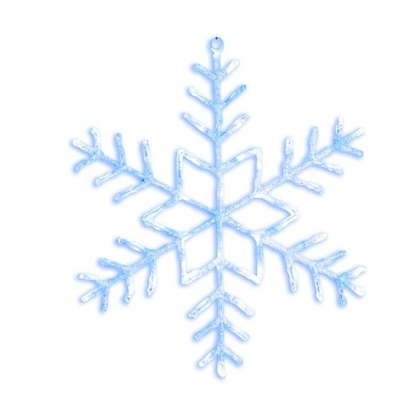 Decoraíune luminoasă cu LED Best Season Merry Snowflake, Ø 80 cm