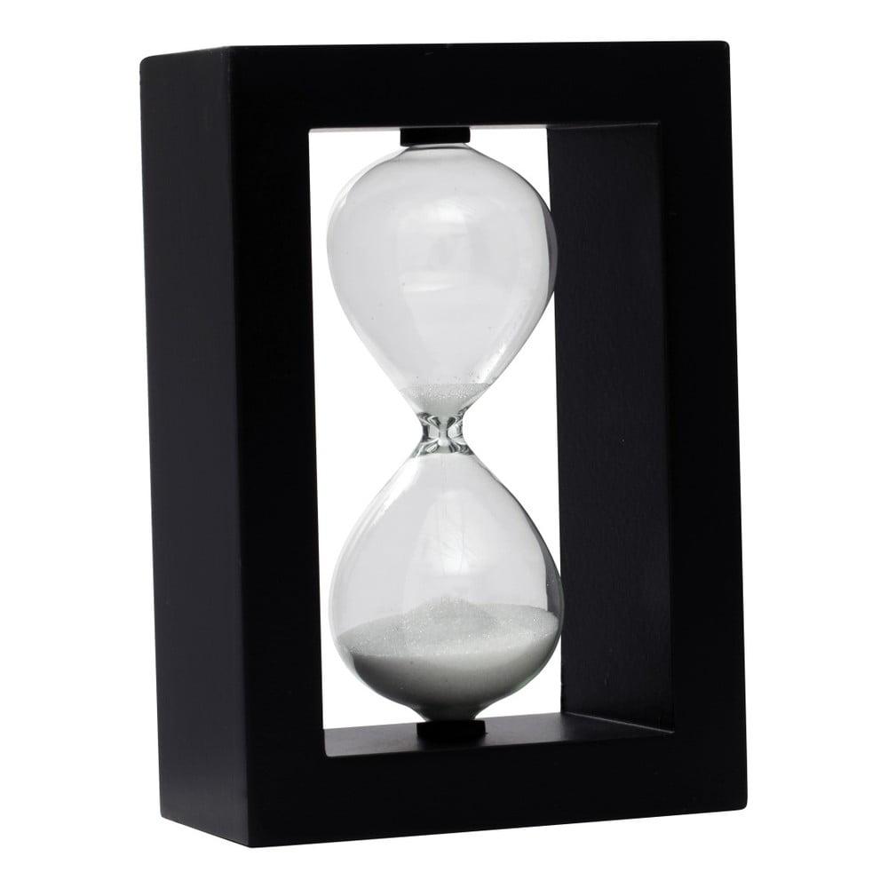 Přesýpací hodiny v rámu Mauro Ferretti Cornice Nera, 10 x 14,5 cm
