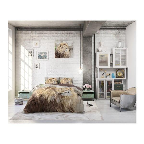 Bavlněné povlečení na jednolůžko Sleeptime Lion, 140 x 220 cm