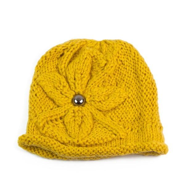 Čepice Dot Yellow