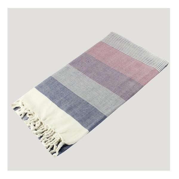 Barevná osuška z čisté bavlny Hammam Strip Style, 90  x  180 cm