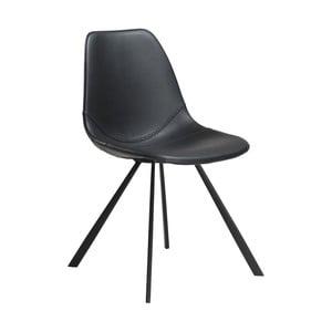 Černá jídelní židle z eko kůže DAN–FORM Denmark Pitch
