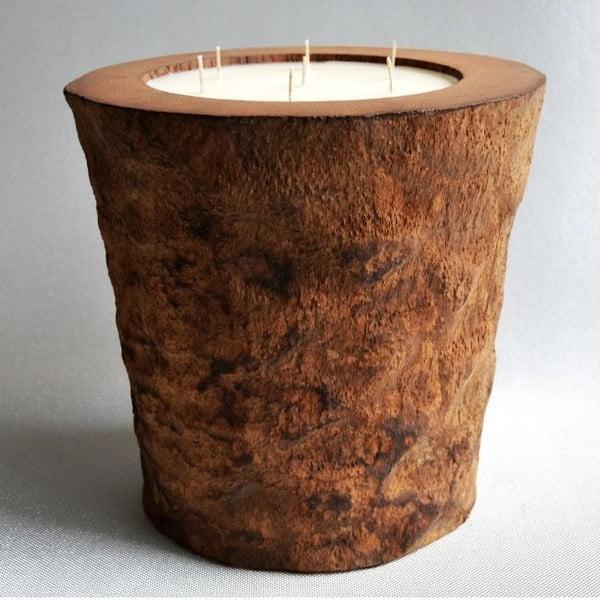 Palmová svíčka Legno s vůní vanilky a pačuli, 160 hodin hoření