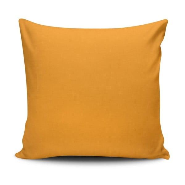 Žlutý povlak na polštář Riva, 45 x 45 cm