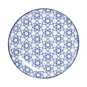 Modrý porcelánový talíř Tokyo Design Studio Stripe