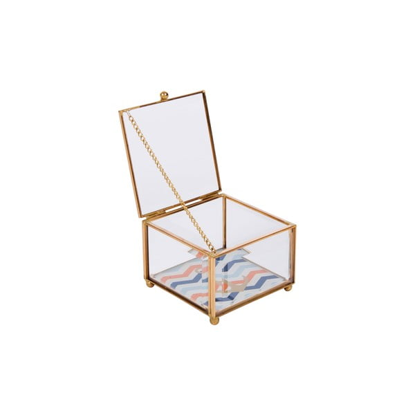 Skleněná šperkovnice Portagioie
