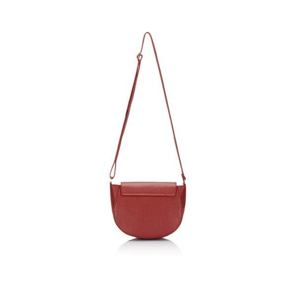Kožená kabelka Lisa Minardi 5928 Bordo