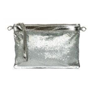 poșetă din piele Renata Corsi Glamour, argintie