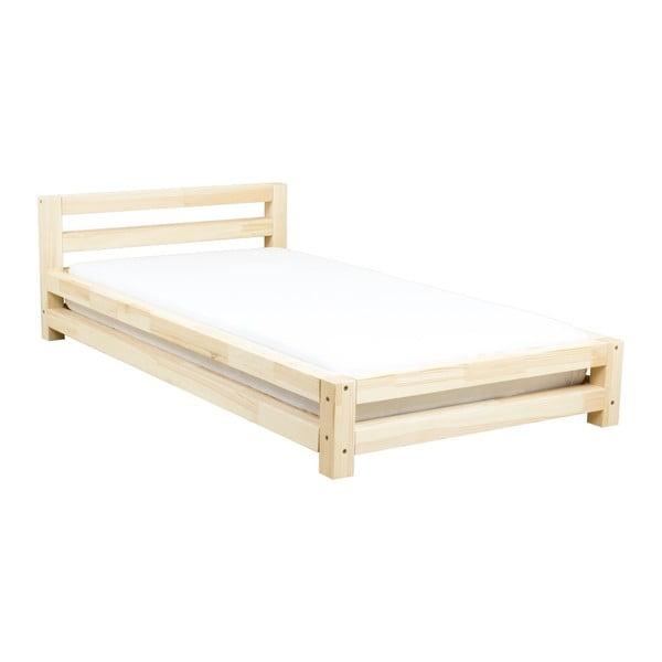 Jednolôžková lakovaná posteľ zo smrekového dreva Benlemi Single, 120 × 200 cm