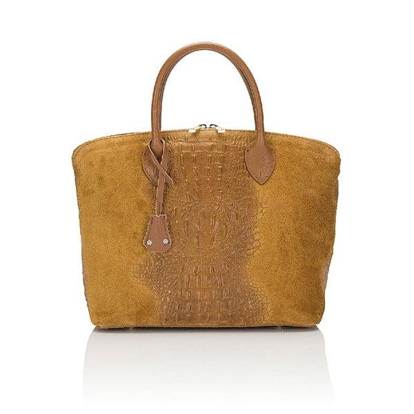 Kožená kabelka Giorgio Costa 15016 Cognac
