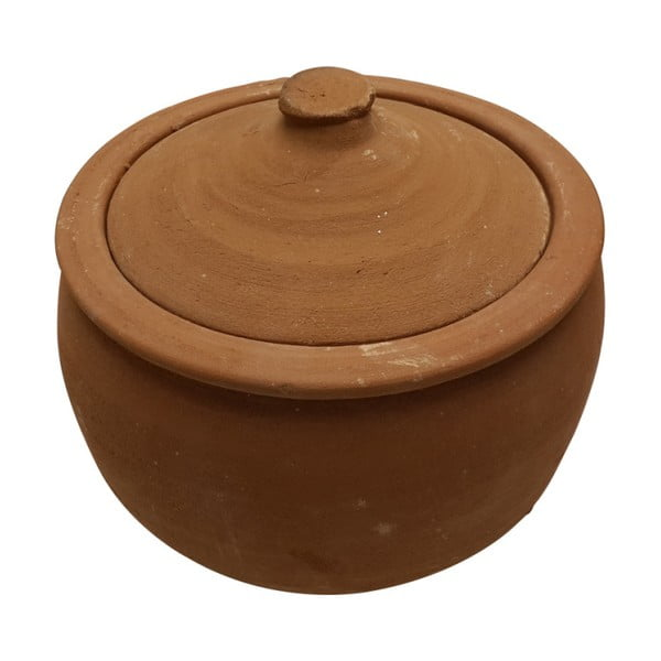 Servírovací hrniec z pálenej hliny Bambum Ispir, objem 4 l