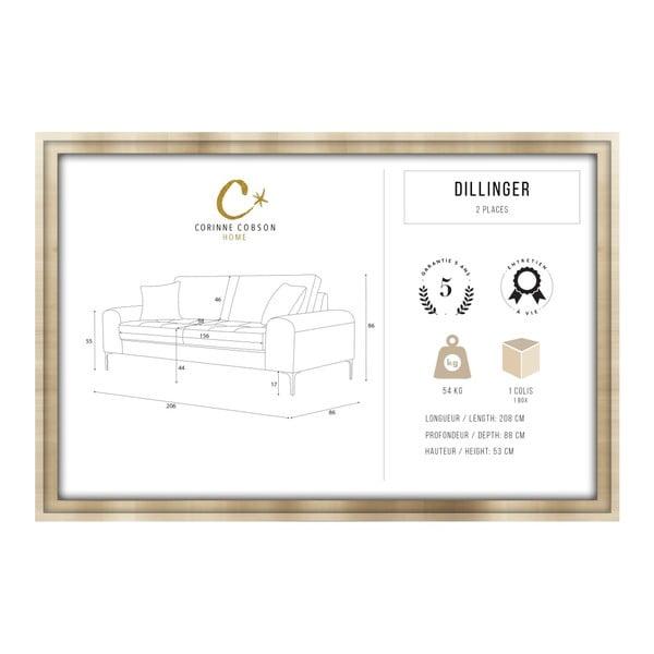 Set canapea crem cu 3 locuri, 4 scaune gri, o saltea 160 x 200 cm Home Essentials