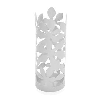 Suport metalic pentru umbrele Versa Flores, înălțime 49cm, alb