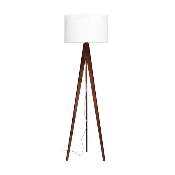 Stojací lampa Artist White/Brown, 125x42 cm