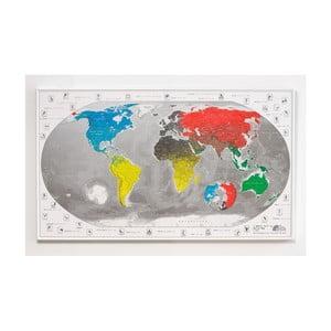 Magnetická mapa světa The Future Mapping Company Commemorative World Map, 101x60cm