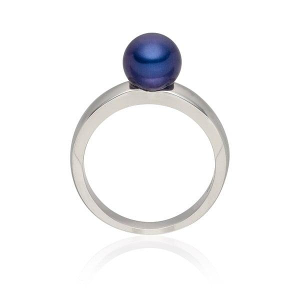 Perlový prsten Jeanne Dark Blue, vel. 58