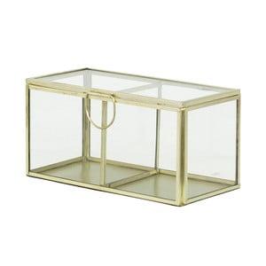 Skleněný box Brass, krémový
