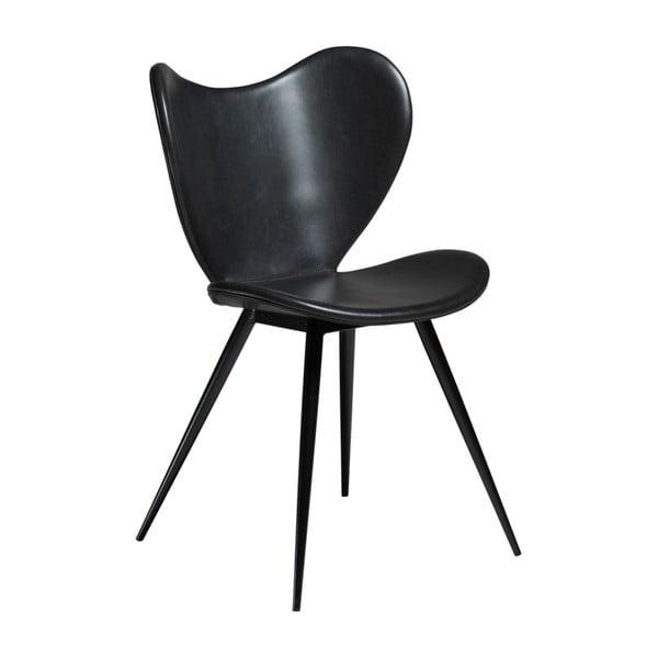 Czarne krzesło ze skóry ekologicznej DAN-FORM Denmark Dreamer