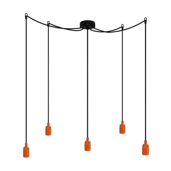 Pět závěsných kabelů Uno, oranžová/černá/černá