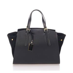 Černá kožená kabelka Giulia Massari Ferrara