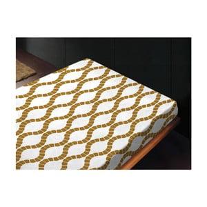 Neelastické prostěradlo Kendra Oro, 180x260 cm