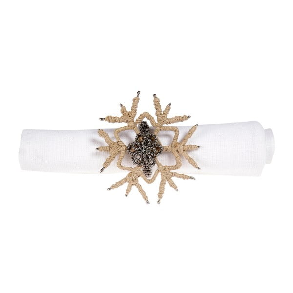 Sada 12 dekorativních kroužků na ubrousky Côté Table Snowflake