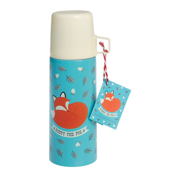 Termos cu cană Rex London Rusty The Fox, 350 ml