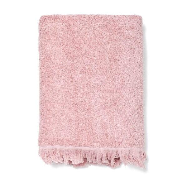 Set 2 červených bavlněných ručníků a 2 osušek Casa Di Bassi Riad